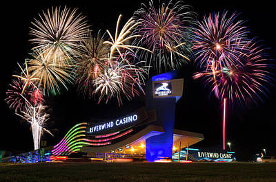 4th July Photograph - Riverwind Fireworks II by Ricky Barnard