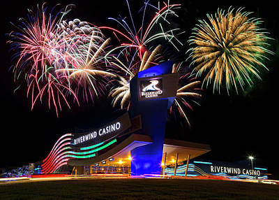 4th July Photograph - Riverwind Fireworks by Ricky Barnard