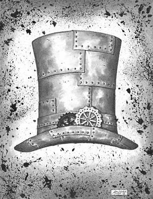 Riveting Top Hat Print by Adam Zebediah Joseph