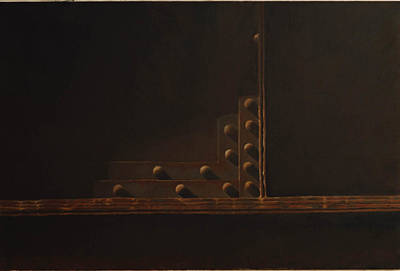 Rivets Painting - Rivets And Shadow by Scott Geyer