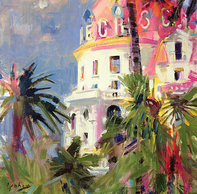 Pals Painting - Riviera Balcony by Peter Graham
