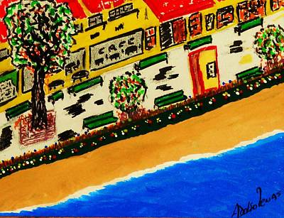 Riviera Beach Cafe Art Print