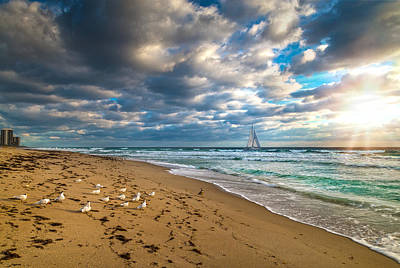 Photograph - Riviera Beach Sunrise by Lynn Bauer