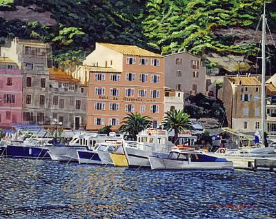 Corfu Painting - Riviera Morning by David Lloyd Glover