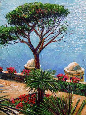 Riviera Plein Air Art Print by David Lloyd Glover