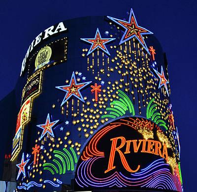 Photograph - Riviera Sign Las Vegas by David Lee Thompson