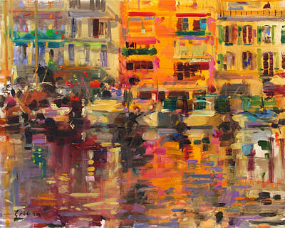 Cote D Painting - Riviera Summer by Peter Graham