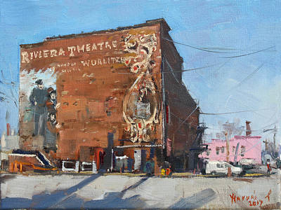 Urban Street Painting - Riviera Theatre Historic Place In North Tonawanda by Ylli Haruni