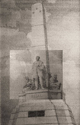 Drawing - Rizal-full And Detail 1966-67 by Glenn Bautista