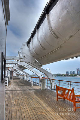 Photograph - Rms Queen Mary Lifeboats 2 by David Zanzinger