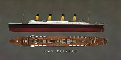 Painting - Rms Titanic by Jan Keteleer