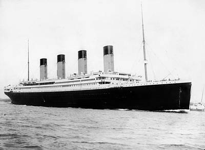 Liner Photograph - Rms Titanic by War Is Hell Store