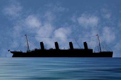 Cruise Photograph - Rms Titantic V1 by Smart Aviation