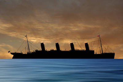 Cruise Photograph - Rms Titantic V2 by Smart Aviation