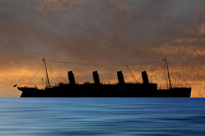 Cruise Photograph - Rms Titantic V3 by Smart Aviation