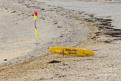 Photograph - Rnli Rescue Surf Board by Brian Roscorla