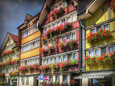 Photograph - Row Of Swiss Houses by Hanny Heim