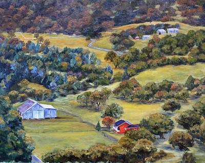 North Fork Painting - Road 200 by Mary Beth Harrison