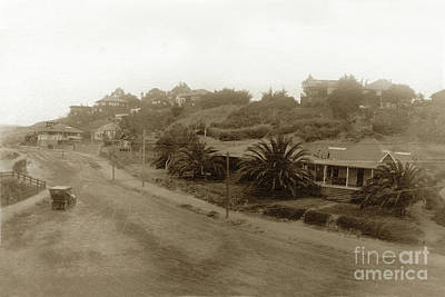 Photograph - Road Above The Cove At La Jolla Circa 1915 by California Views Mr Pat Hathaway Archives