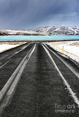 Photograph - Road Along Frozen Lake by Anna Om