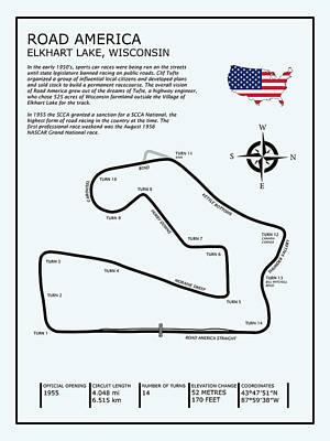 Circuit Photograph - Road America by Mark Rogan