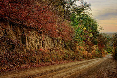 Photograph - Road And Bluff - Loess Hills - Iowa by Nikolyn McDonald