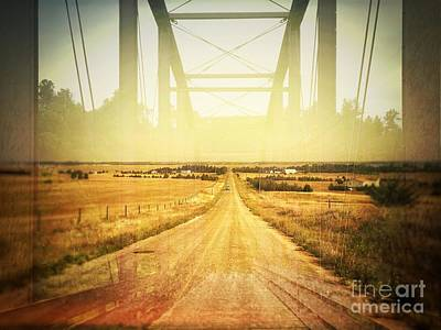 Photograph - Road And Bridge Double Exposure by Iryna Liveoak