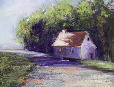 Pastel - Road And House by Joyce A Guariglia