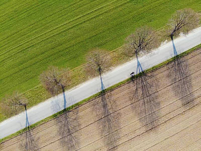 Cool Wall Art - Photograph - Road And Landscape From Above by Matthias Hauser