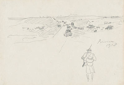 Drawing - Road At Peronne by John Singer Sargent