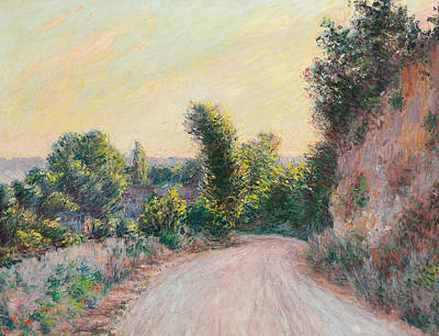 Pathway Painting - Road   Chemin by Claude Monet