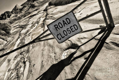 Photograph - Road Closed by Blake Richards