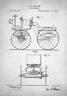 Digital Art - Road Engine Patent by Taylan Apukovska
