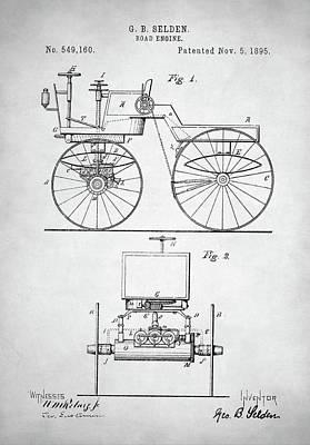 Digital Art - Road Engine Patent by Taylan Apukovska
