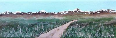 Painting - Road From Manzanar by Katherine Young-Beck