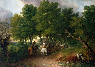 Road From Market  Art Print by Thomas Gainsborough