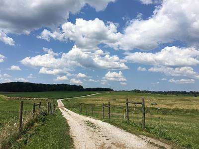 Photograph - Road From The Farm by Heidi Moss