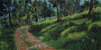 Pastel - Road From The Spring Branch by Lorraine McFarland