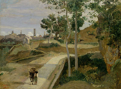 Road From Volterra Print by Jean Baptiste Camille Corot