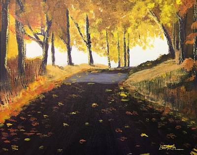 Road In Autumn Art Print
