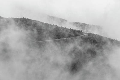 Road In Fog - Blue Ridge Parkway Art Print