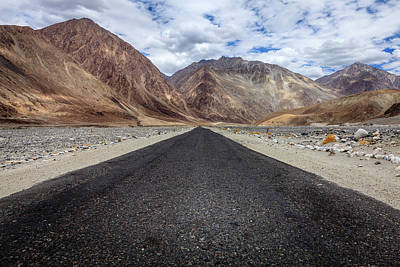Photograph - Road In Nubra Valley by Alexey Stiop