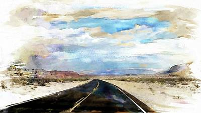 Digital Art - Road In The Desert by Robert Smith