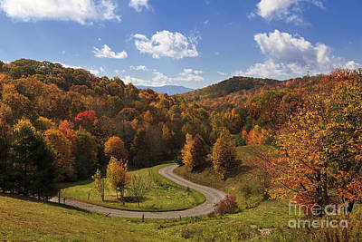 Photograph - Road In The Fall Mountains by Jill Lang