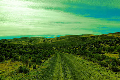 Road Into The Foothills Art Print by Jeff Swan
