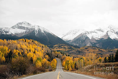 Road Into The Snow Peaks Art Print