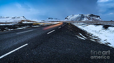 Photograph - Road Landscape In Iceland by Anna Om