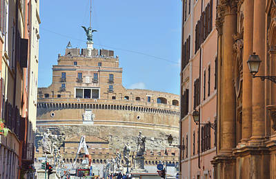 Castel Santangelo Wall Art - Photograph - Bridge To Sant'angelo  by JAMART Photography