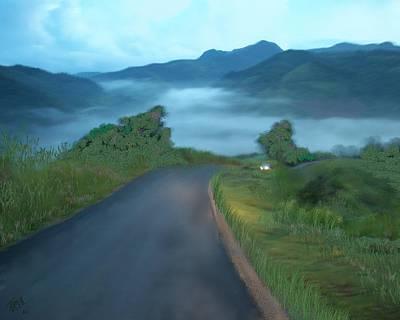 Puerto Rico Digital Art - Road Less Traveled by Tony Rodriguez