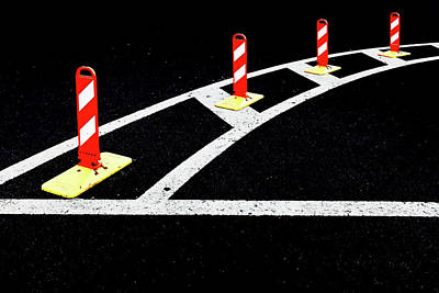 Photograph - Road Marking #8160 by Andrey Godyaykin